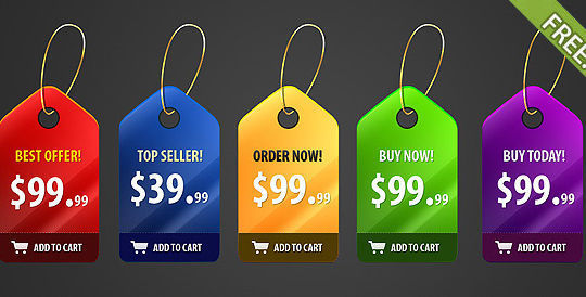 15 Free Price Sale And Discount Tags PSDs 10