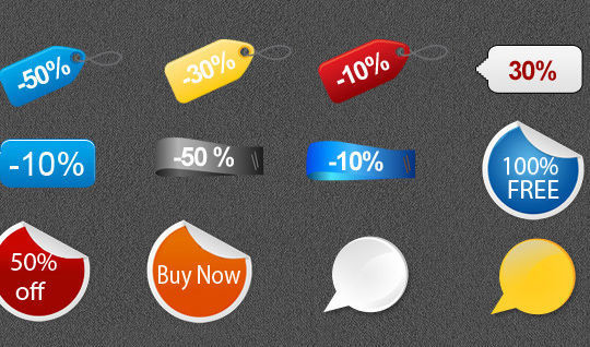 15 Free Price Sale And Discount Tags PSDs 7