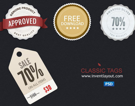 15 Free Price Sale And Discount Tags PSDs 8