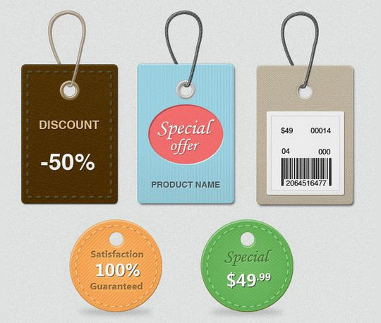 15 Free Price Sale And Discount Tags PSDs 3