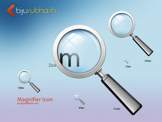 11 Free Magnifying Glass Search Icons (PSD) Set 29