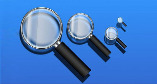 11 Free Magnifying Glass Search Icons (PSD) Set 3