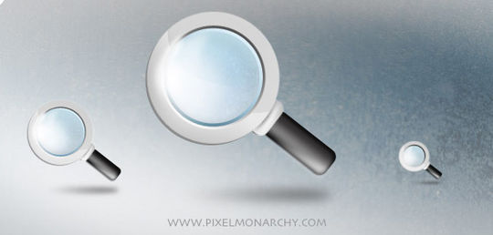 11 Free Magnifying Glass Search Icons (PSD) Set 11