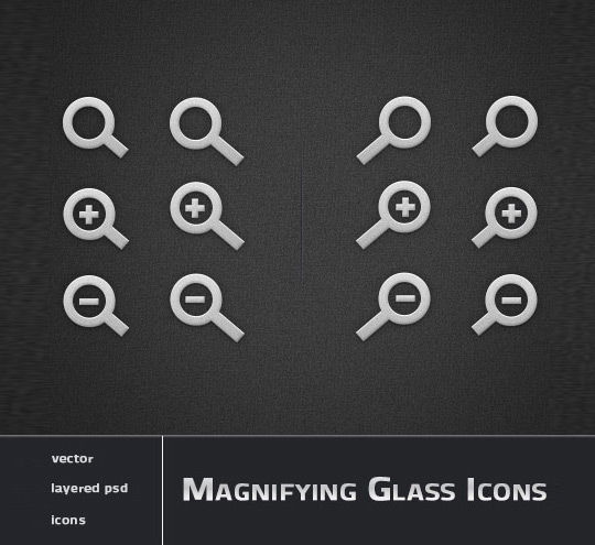 11 Free Magnifying Glass Search Icons (PSD) Set 9