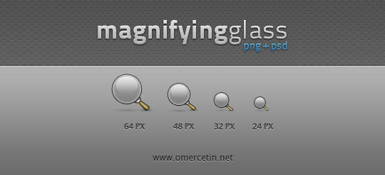 11 Free Magnifying Glass Search Icons (PSD) Set 12