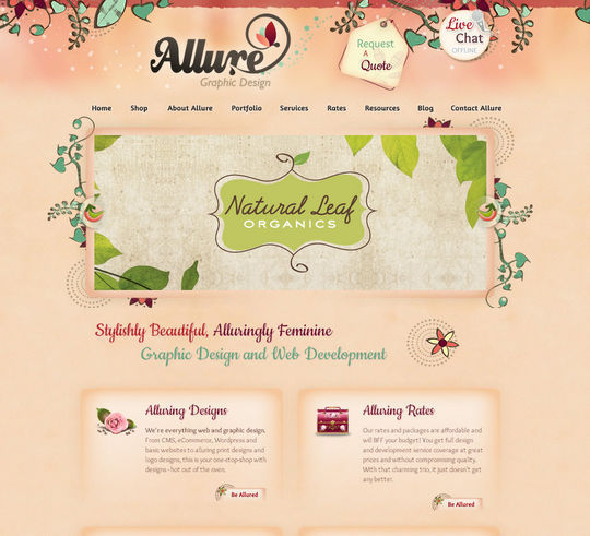 Showcase Of Beautiful Patterns And Textures In Web Design 24