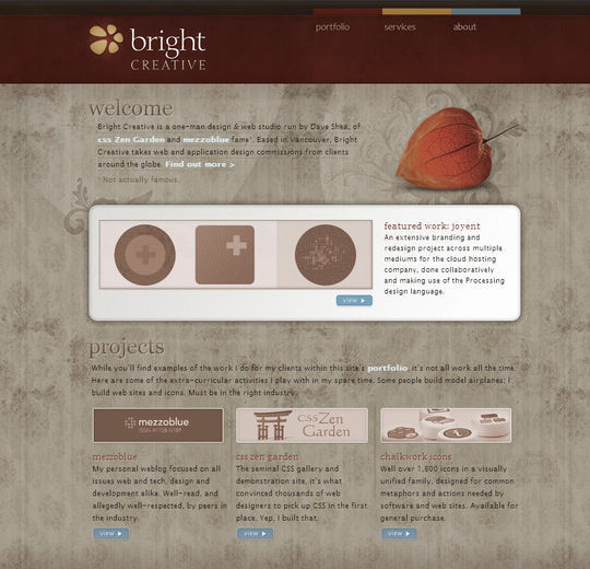 Showcase Of Beautiful Patterns And Textures In Web Design 8