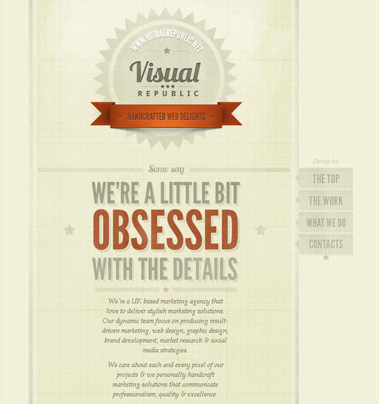 Showcase Of Beautiful Patterns And Textures In Web Design 16
