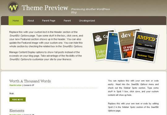 Showcase Of Powerful Free WordPress Business Themes 7