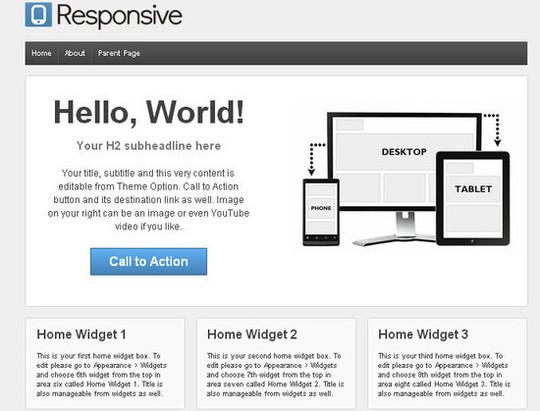 Showcase Of Powerful Free WordPress Business Themes 4