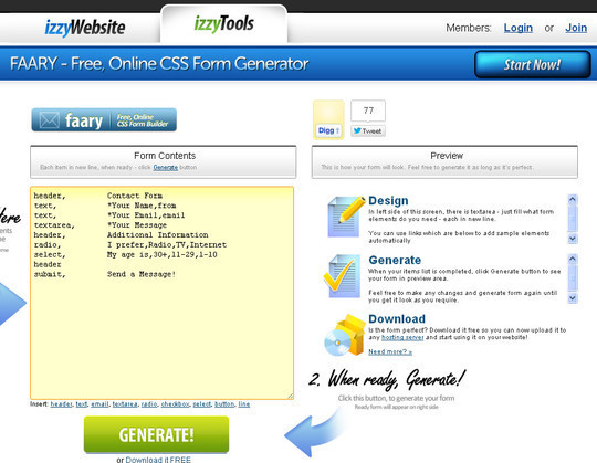 40 Free And Useful Online Generators For Web Designers 11