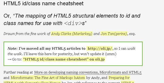 17 HTML5 Cheat Sheets And Tutorials 5