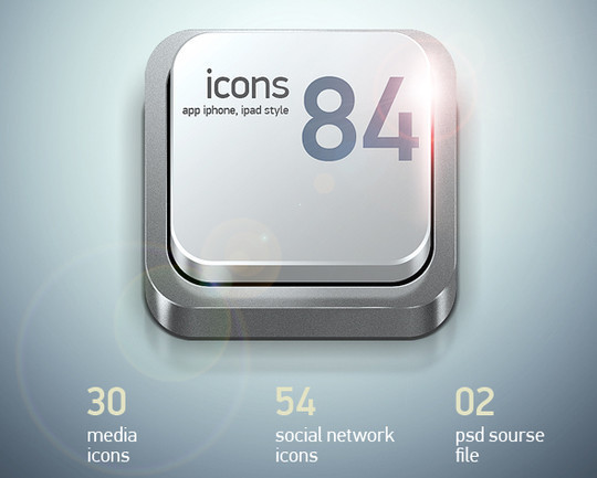 16 Mobile App Icon PSDs For Free Download 8
