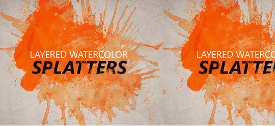 45 Free Watercolor, Ink And Splatters Brushes For Photoshop 12