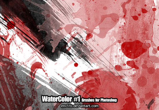 45 Free Watercolor, Ink And Splatters Brushes For Photoshop 23