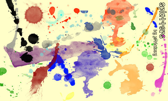 45 Free Watercolor, Ink And Splatters Brushes For Photoshop 25