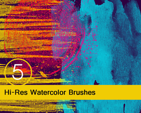 45 Free Watercolor, Ink And Splatters Brushes For Photoshop 5
