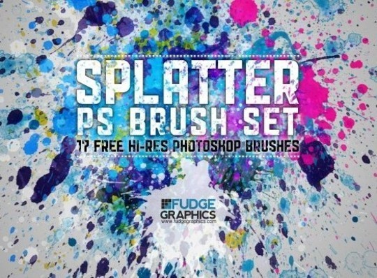 45 Free Watercolor, Ink And Splatters Brushes For Photoshop 26