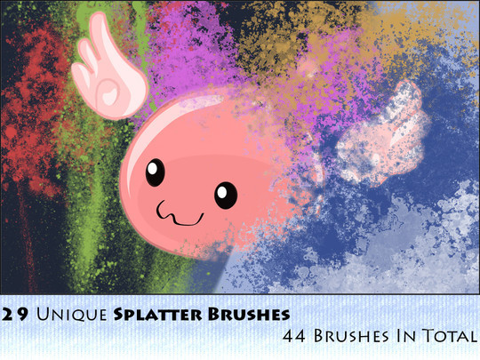 45 Free Watercolor, Ink And Splatters Brushes For Photoshop 28