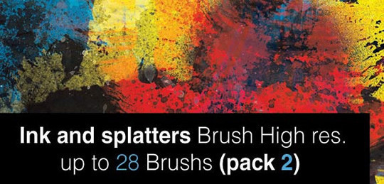 45 Free Watercolor, Ink And Splatters Brushes For Photoshop 30