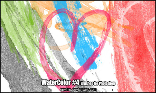 45 Free Watercolor, Ink And Splatters Brushes For Photoshop 37