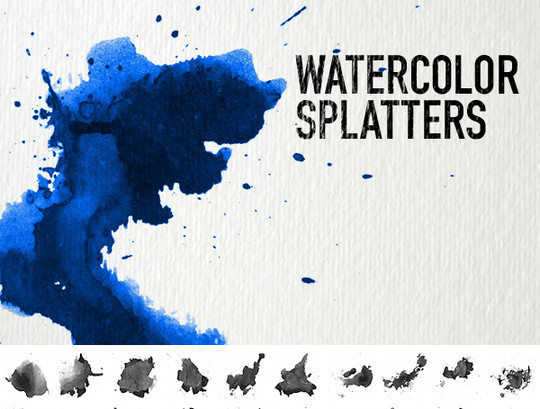 45 Free Watercolor, Ink And Splatters Brushes For Photoshop 15
