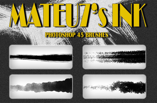 45 Free Watercolor, Ink And Splatters Brushes For Photoshop 39