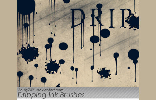 45 Free Watercolor, Ink And Splatters Brushes For Photoshop 40