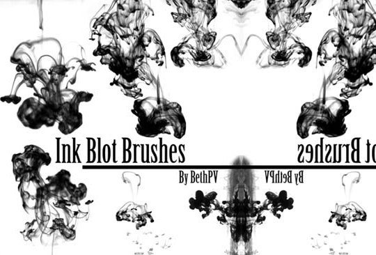 45 Free Watercolor, Ink And Splatters Brushes For Photoshop 42