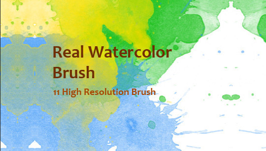 45 Free Watercolor, Ink And Splatters Brushes For Photoshop 43