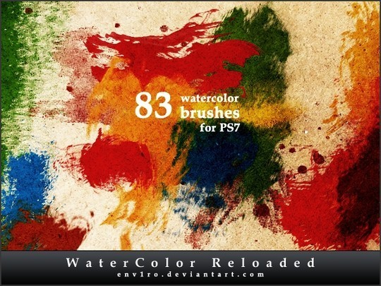45 Free Watercolor, Ink And Splatters Brushes For Photoshop 1