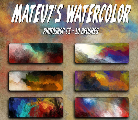 45 Free Watercolor, Ink And Splatters Brushes For Photoshop 16