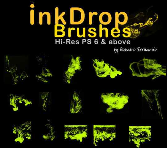 45 Free Watercolor, Ink And Splatters Brushes For Photoshop 2