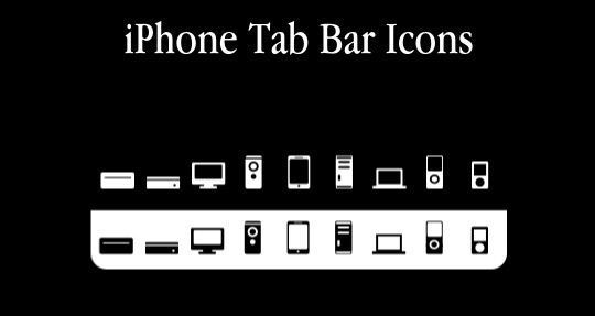 11 Useful And Free iPhone Toolbar Icon Sets 2