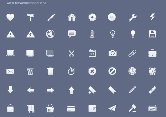 11 Useful And Free iPhone Toolbar Icon Sets 1