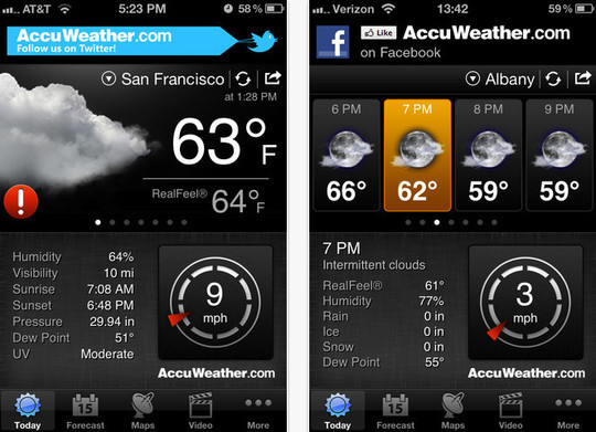 20 Best Free Weather iPhone Apps 6
