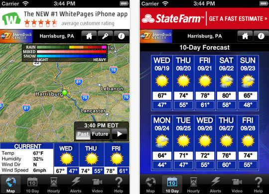 20 Best Free Weather iPhone Apps 9