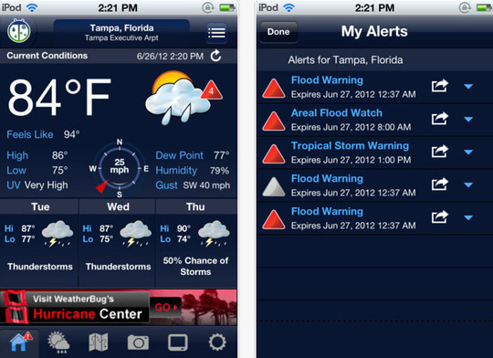20 Best Free Weather iPhone Apps 1