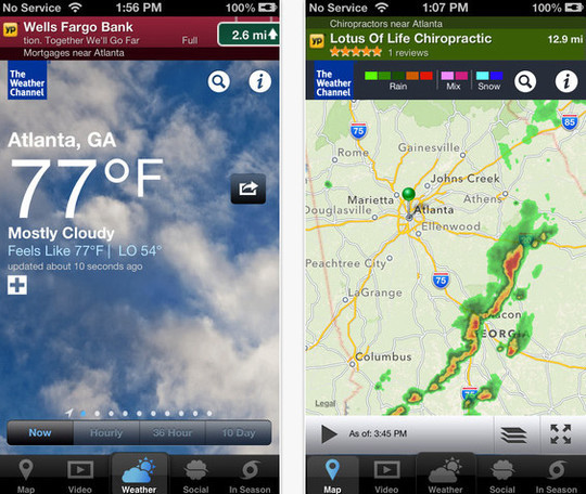 20 Best Free Weather iPhone Apps 2