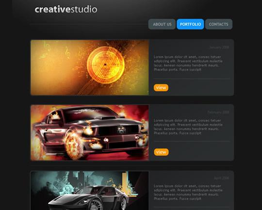 40 High Quality Photoshop Web Layout Tutorials 17
