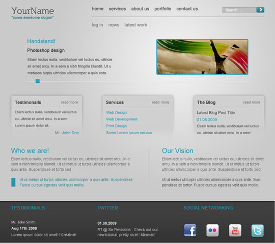 40 High Quality Photoshop Web Layout Tutorials 19