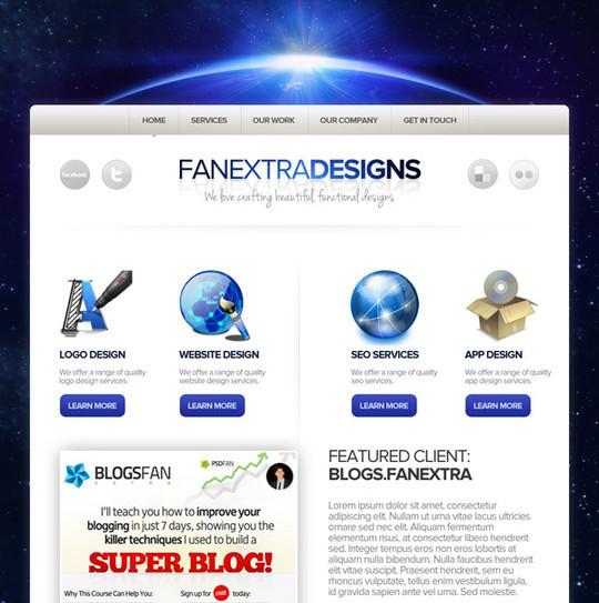 40 High Quality Photoshop Web Layout Tutorials 24
