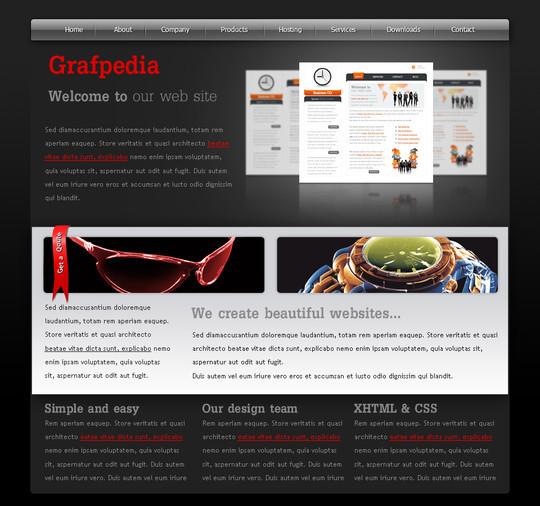 40 High Quality Photoshop Web Layout Tutorials 10