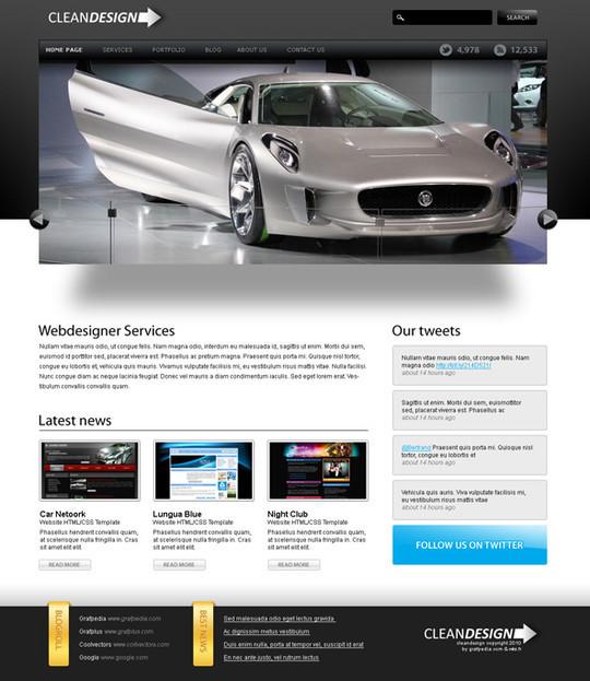 40 High Quality Photoshop Web Layout Tutorials 29