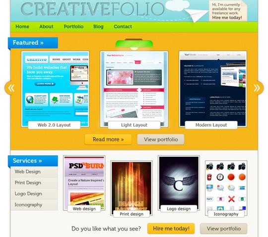 40 High Quality Photoshop Web Layout Tutorials 7