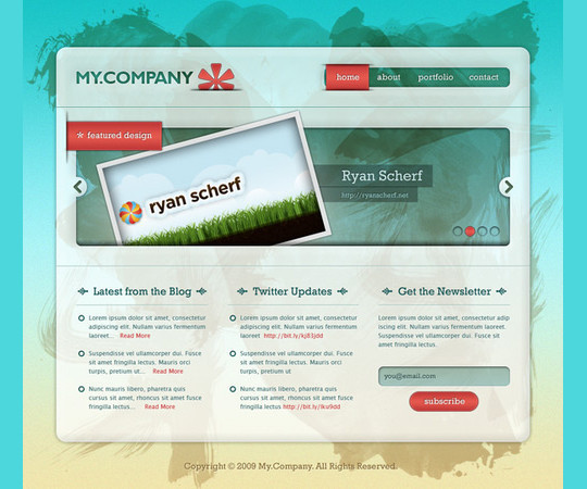 40 High Quality Photoshop Web Layout Tutorials 12