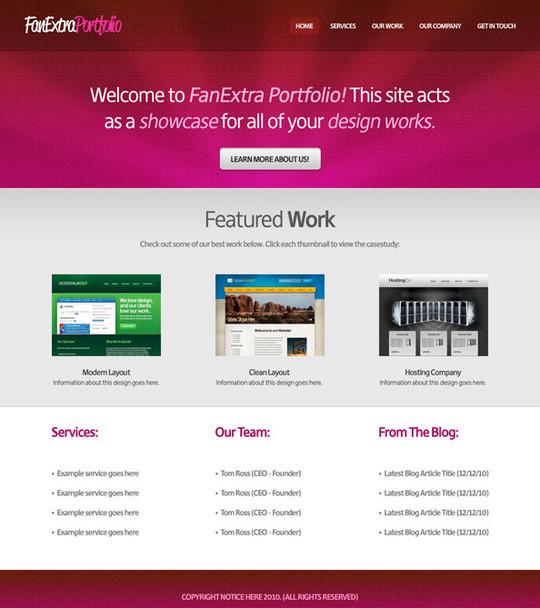 40 High Quality Photoshop Web Layout Tutorials 13