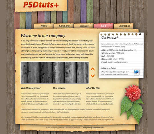40 High Quality Photoshop Web Layout Tutorials 5