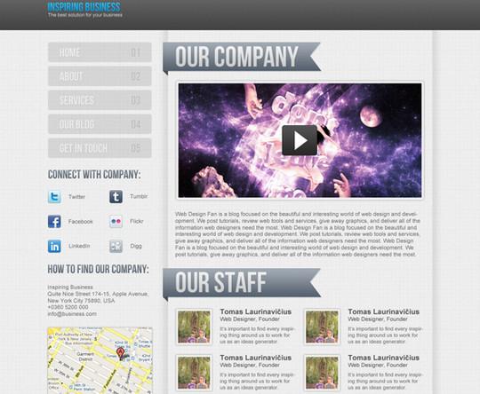 40 High Quality Photoshop Web Layout Tutorials 14