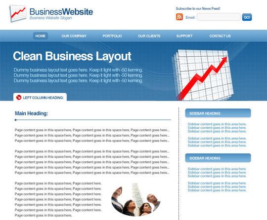40 High Quality Photoshop Web Layout Tutorials 15
